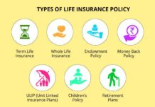 Types of the life insurance policy