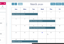 google calendar using EA events elements