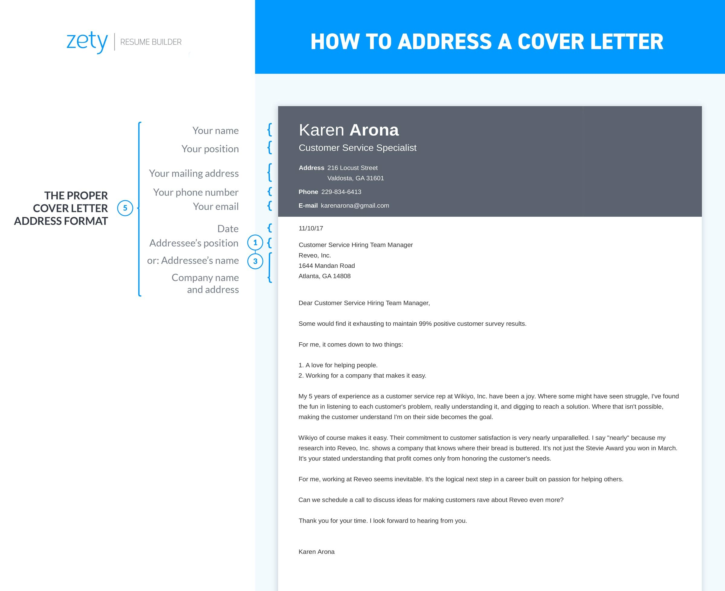 address a cover letter