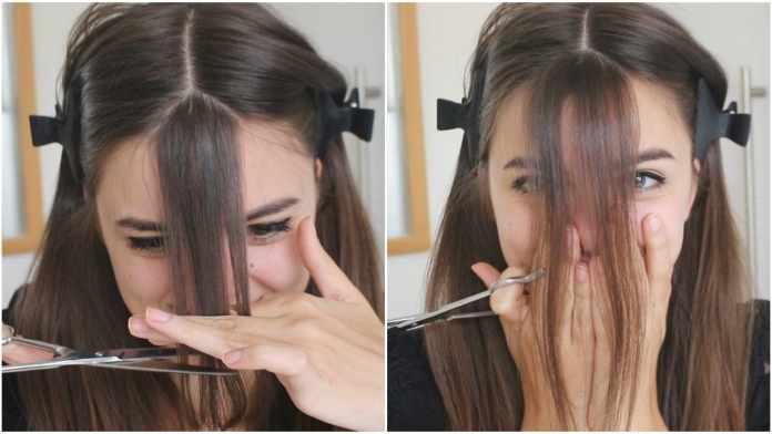 How to cut bangs?